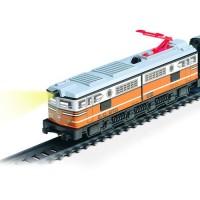 Trenulet electric calatori cu far si macheta clasic - Pequetren