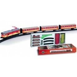 Trenulet electric calatori, cu statie si tunel - Pequetren