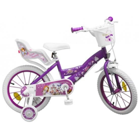 Bicicleta pentru fetite 16 inch Printesa Sofia