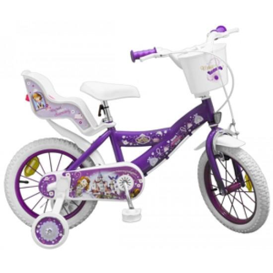 Bicicleta pentru fetite Sofia the First 14 inch Toimsa