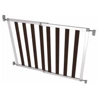 Poarta de siguranta extensibila din aluminiu si lemn Noma Ikon Noir 62–104 cm N94085