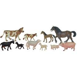Set 10 figurine animale domestice cu puii - Miniland