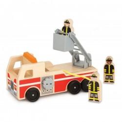 Masinuta de pompieri din lemn - Melissa & Doug