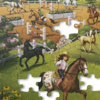 Primul meu puzzle eco din carton Calutii - Melissa and Doug