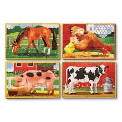 Set 4 puzzle lemn in cutie Animale domestice Melissa and Doug