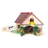 Set de joaca din lemn - Ferma cu figurine