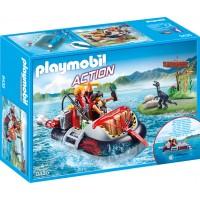 Ambarcatiune acvatica cu motor Playmobil City