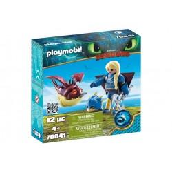 Playmobil Dragons - Astrid si Hobgobbler