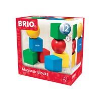 Set blocuri colorate magnetice Brio 8 piese