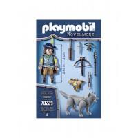 Cavaler Novelmore, arbaleta si lup Playmobil