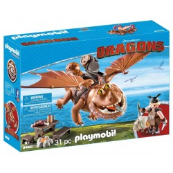 Playmobil Dragons - Fishlegs si Meatlug