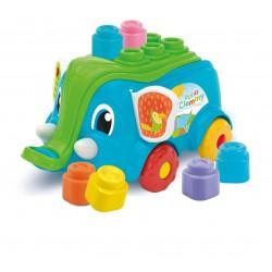 Jucarie bebe Elefantel cu cuburi Clementoni