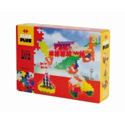 Set constructie Plus-Plus Neon 3 in 1 - 220 piese