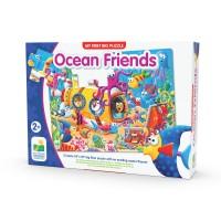 Primul meu puzzle de podea 12 piese - Prietenii oceanului