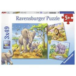 Puzzle Animale - 3x49 piese