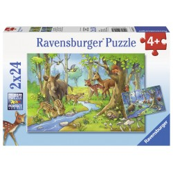 Puzzle Animale padure - 2x24 piese