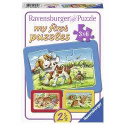 Puzzle Animalute 3x6 piese