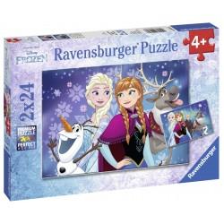 Puzzle Frozen 2x24 piese