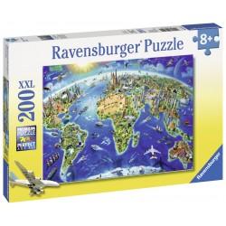 Puzzle Harta lumii - 200 piese