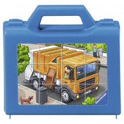 Puzzle in cutie Vehicule 12 piese