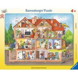 Puzzle Inauntrul casei - 30 piese