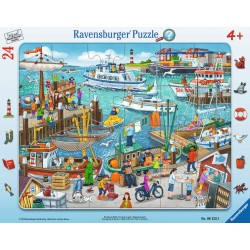 Puzzle O zi in port - 24 piese