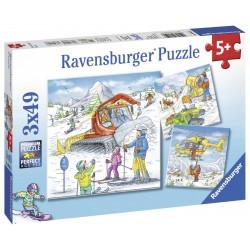 Puzzle Partie de schi 3x49 piese
