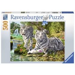 Puzzle Pisica mare alba - 500 piese