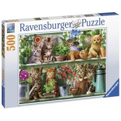 Puzzle Pisici pe raft 500 piese