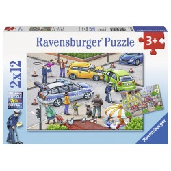 Puzzle Politie - 2x12 piese