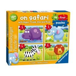 Puzzle Safari - 2/3/4/5 piese