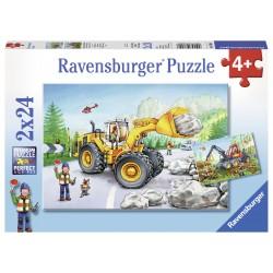 Puzzle Utilaje la munca - 2x24 piese