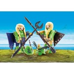 Playmobil Dragons - Raffnut si Taffnut in costume de zbor