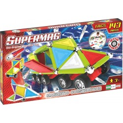 Set constructie Supermag Tags Wheels 143 piese