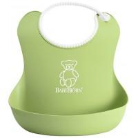 Bavetica moale Soft Bib Green BabyBjorn