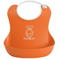 Bavetica moale Soft Bib Orange BabyBjorn