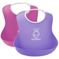 Set 2 bavete Soft Bib BabyBjorn Pink Purple