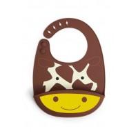 Bavetica de silicon Fold and Go Zoo Skip Hop - Girafa