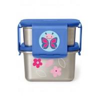 Kit pentru pranz din otel inoxidabil Skip Hop Zoo Fluture