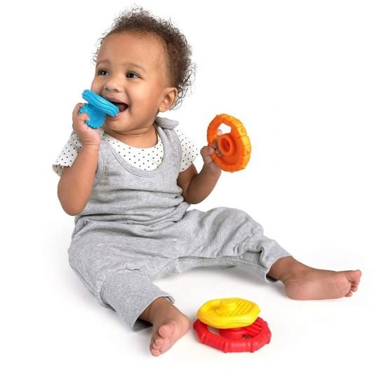 Jucarie multisenzoriala si de dentitie Stacking Teether Baby Einstein