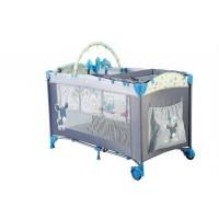 Patut Pliant cu 2 nivele Sleepwell Blue BabyGo