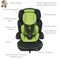 Scaun Auto Freemove Green Babygo - grupa 9-36 kg
