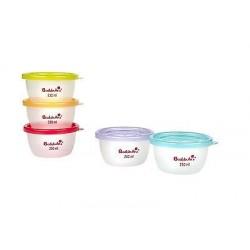 Set 5 boluri pentru pastrarea alimentelor Badabulle