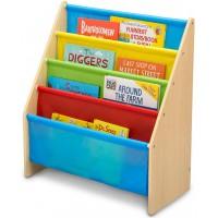 Organizator carti cu cadru din lemn Natur Multicolor