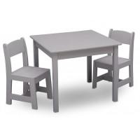 Set masuta si 2 scaunele Pure Grey