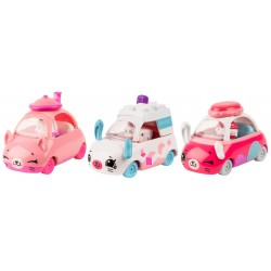 Set 3 masinute Tea Brake cu 3 figurine Shopkins Cutie Cars