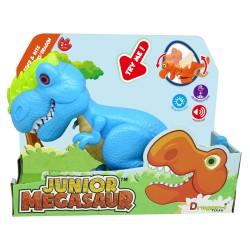 Dinozaur Junior T-Rex cu lumini si sunete - Bleu