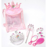 Rucsac cu accesorii pentru par (8 piese) Disney 3 New Princess