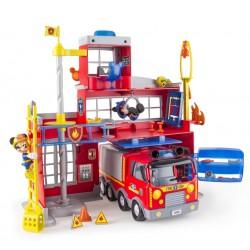 Statie de pompieri cu efecte luminoase si sonore