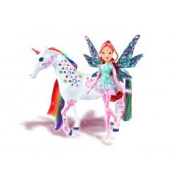 Set papusa Wink Zana Tynix Bloom si unicornul Elas